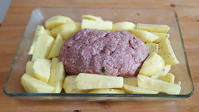 Marie's Sunday Meatloaf - before