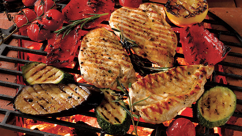 Barbecued Chicken with Harissa Dressing