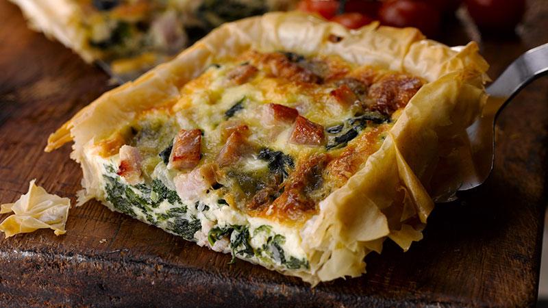 Bacon Spinach & Blue Cheese Tart