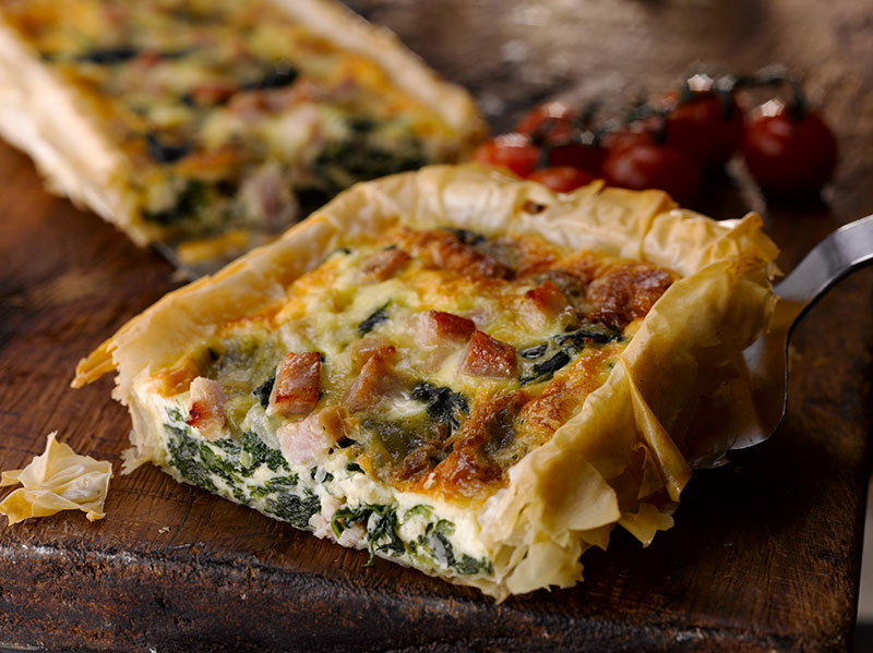 Bacon Spinach & Blue Cheese Tart