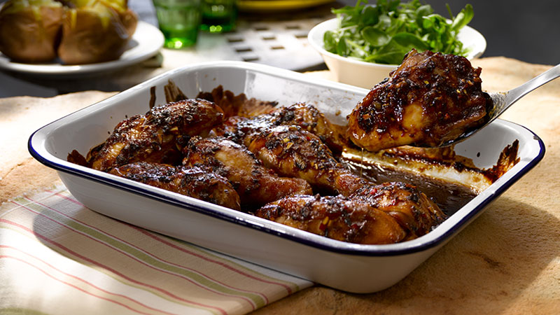 Chicken Portions with a Sticky Glaze