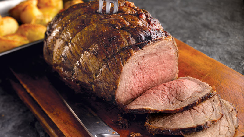 Roast Sirloin of Beef with a Mustard Crust