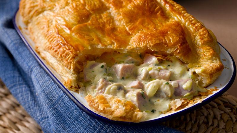 Bacon Leek Mushroom Pie, easy meal plan