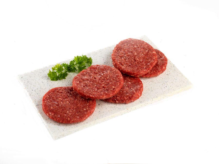 low fat beef burgers