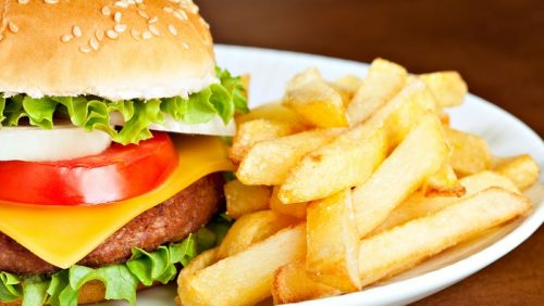 burger and fries, easy meal plan