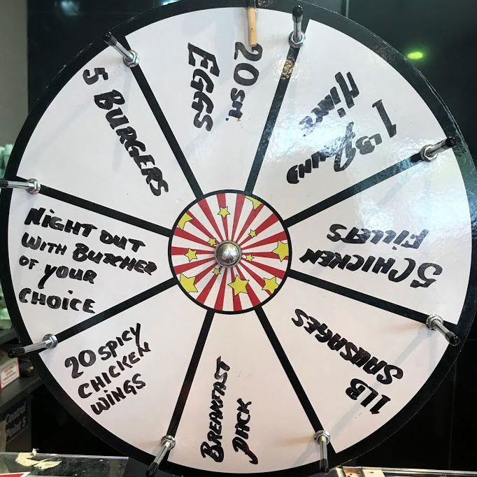 The spinning wheel for prizes