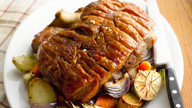 Roast Shoulder of Pork with Crackling