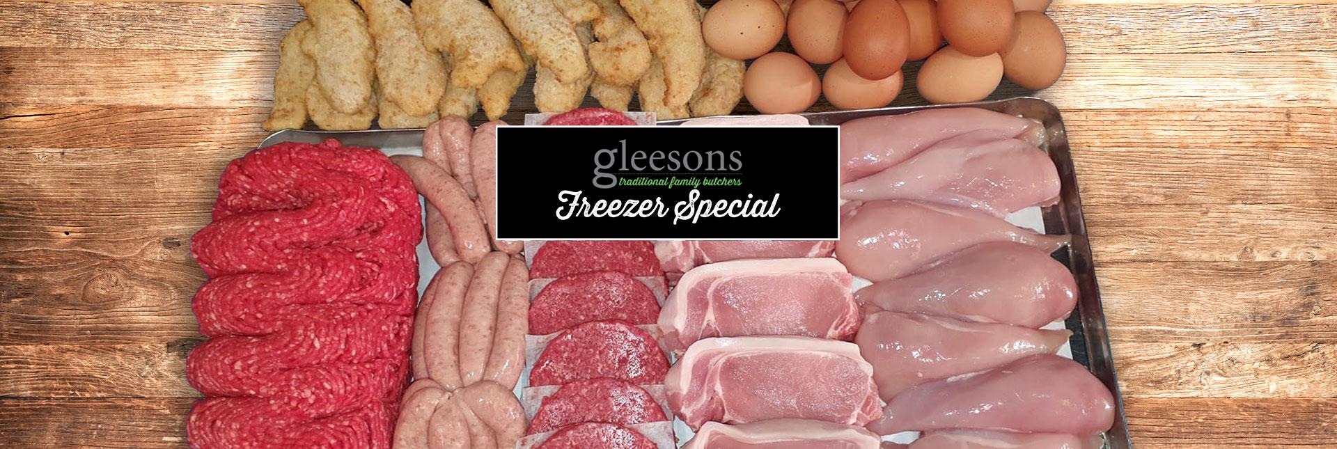 Gleeson Butchers freezer pack