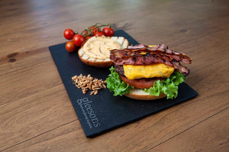 BBQ Burger bun open