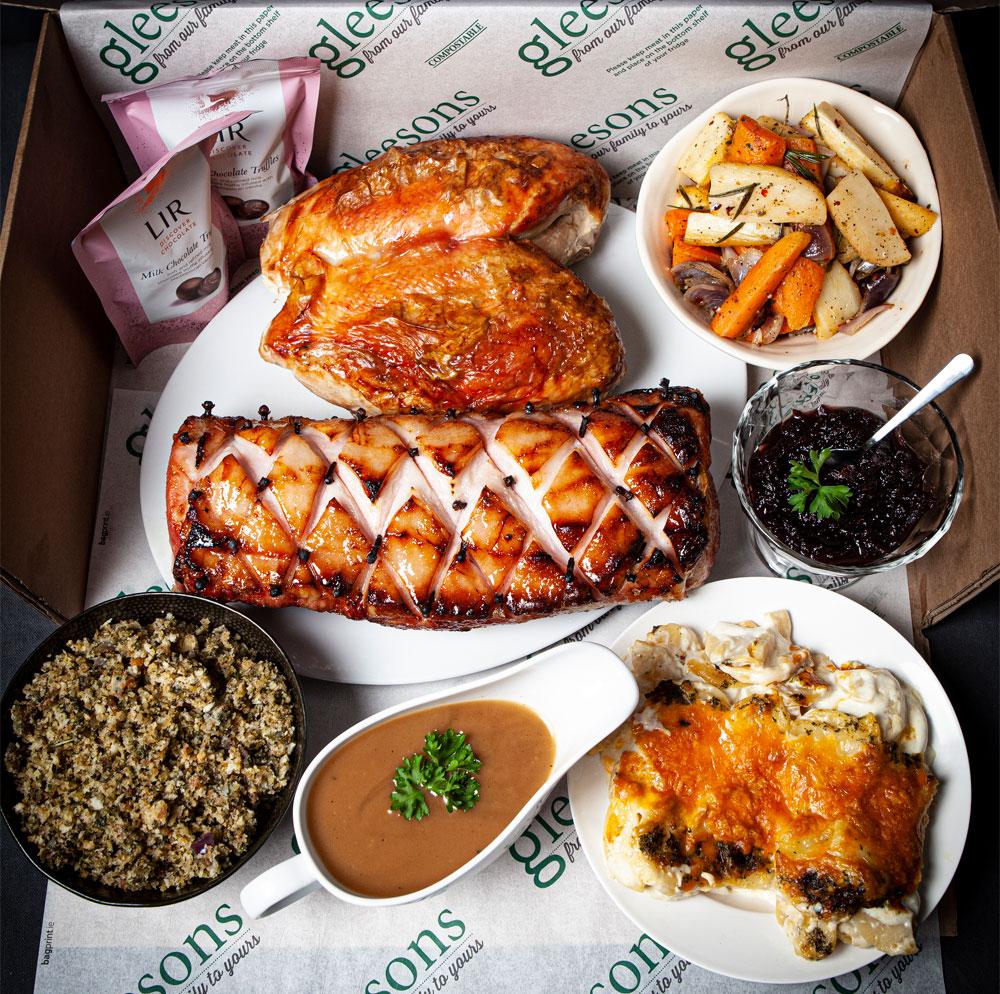 Gleesons Christmas Box with Turkey and Ham